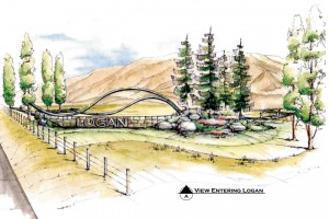 Logan City Entry Concept Sketch