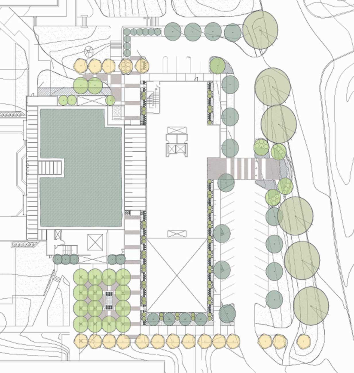 Warnock engineering building g brown design for Building site plan
