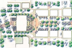 town center master plan rendering