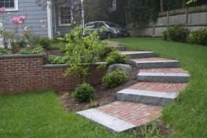 brick landscape steps
