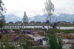 Oquirrh Lake and stream
