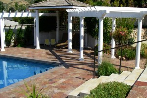 pool deck patio space