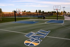 Lodestone Park Playground Basketball Court Utah Jazz