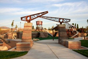 Lodestone Park Playground Entry Rammed Earth Walls