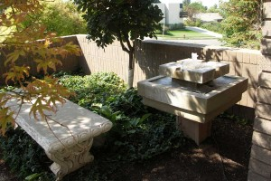 secluded seating area