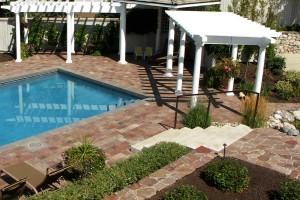 pool and pergolas