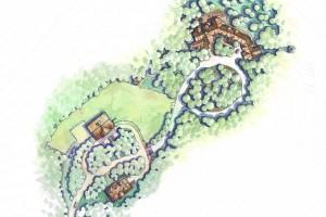 home site plan rendering