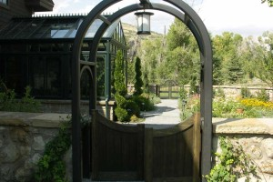 garden arbor and gate