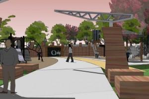 park entrance rendering