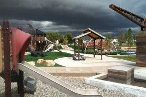 Lodestone Park playground construction progress