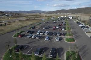 parking lot landscape