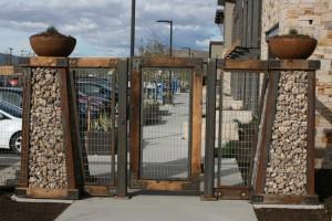 custom gabion gate design