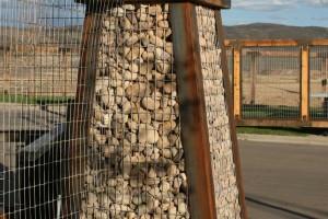 Gabion basket entry gate