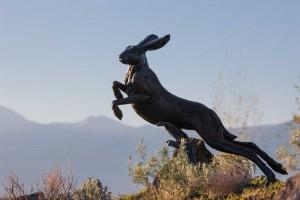 Jackson Hole Airport - Jackrabbit Sculpture (Photo by Bart Walter)