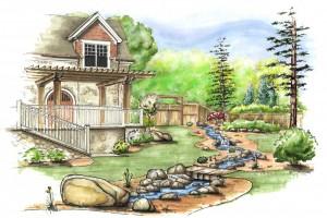 Residentail Landscape Rendering